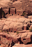 Tombs in the hillside at Petra Stock Image