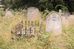 Tombs In An Old Cemetery Stock Photos