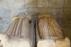 Tombs in the Interior of the Monastery of the XII century Gradef Royalty Free Stock Photo