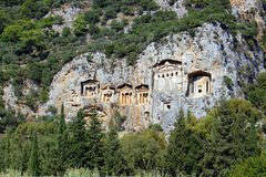 Tombs in Kaunos city, Turkey Royalty Free Stock Photos