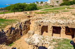 Tombs of the Kings, an ancient necropolis in Paphos Royalty Free Stock Photo