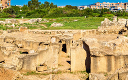 Tombs of the Kings, an ancient necropolis in Paphos Royalty Free Stock Image