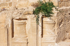 Tombs of the Kings barelief, Paphos, Cyprus. UNESCO World Heritage Site stock image