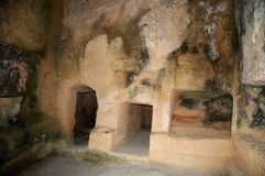 Tombs of the kings -Burial niches. Stock Images