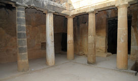 Tombs of the kings - colonade. Colonnaded courtyard of one of the tombs Royalty Free Stock Images