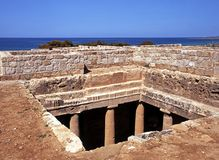 Tombs of the Kings, Cyprus. Stock Image