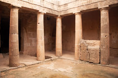 Tombs of the Kings - impressive ancient necropolis. Paphos Distr stock photo