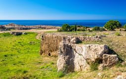 Tombs of the Kings, a necropolis in Paphos Stock Photo