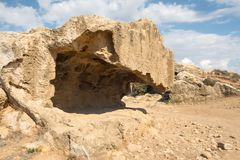 The Tombs of the Kings in Pahos Cyprus stock photography