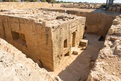 The Tombs of the Kings in Pahos Cyprus Royalty Free Stock Photo