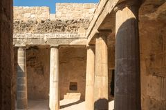 The Tombs of the Kings in Pahos Cyprus Stock Image