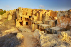 Tombs of the Kings (Paphos) Cypres Royalty Free Stock Photos