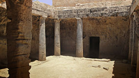 The tombs of the kings. In Paphos Cyprus Royalty Free Stock Photos