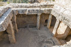 Tombs of the Kings in Paphos on Cyprus Royalty Free Stock Photos
