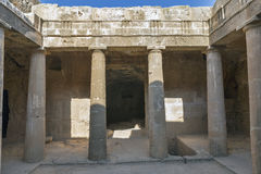 Tombs of the Kings in Paphos on Cyprus Stock Images