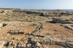 Tombs of the Kings in Paphos on Cyprus Royalty Free Stock Image