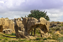 Tombs of the Kings in Paphos, Cyprus. Royalty Free Stock Image