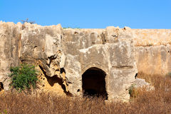 Tombs of the Kings, Paphos, Cyprus. UNESCO World Heritage Site royalty free stock photos