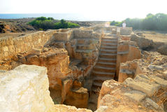 Tombs of the kings - Stairs to one of the tombs Stock Images
