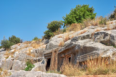 Tombs Lycians in Turkey. Kemer Stock Photos