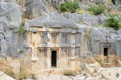 Tombs at Myra Stock Photos