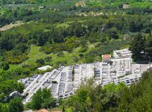 Tombs near the Croatian village Klis Stock Image