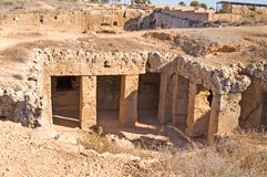 Tombs Of The King (ancient Ruines) Royalty Free Stock Photography