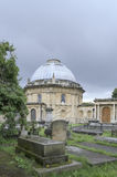 Tombs in an old cemetery. Brompton Cemetery is located near Earl's Court in South West London, England , in the Royal Borough of Kensington and Chelsea. It is Royalty Free Stock Photo