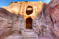 Tombs of Petra. Ancient tombs carved in the rock in Petra, Jordan Stock Photos