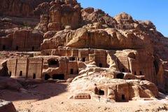 Tombs of Petra Stock Photo