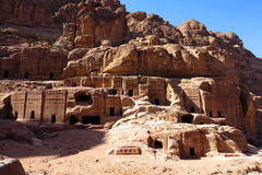 Tombs of Petra Stock Photo