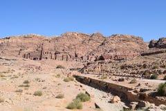 Tombs in Petra Stock Photo