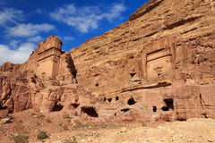 Tombs in Petra, Jordan Royalty Free Stock Photography