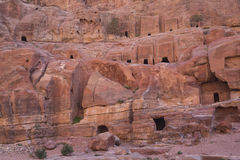 Tombs in Petra Stock Image
