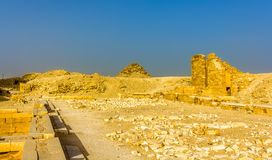 Tombs and pyramids at Saqqara Royalty Free Stock Photos