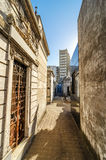 Tombs in Recoleta Cemetery. View of historic tombs in the famous Recoleta cemetery in Buenos Aires, Argentina stock photos