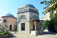 Tombs of Sehzade Mehmet mosque in Istanbul, Turkey royalty free stock images