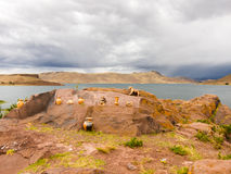 Tombs of Sillustani near Puno, Bolivia Royalty Free Stock Image