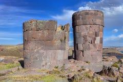 Tombs of Sillustani - Peru stock photo