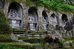 Tombs and temple of Gunung Kawi Stock Image