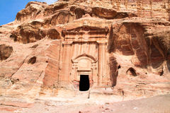 Tombs in Wadi al-Farasa valley, Petra Royalty Free Stock Images