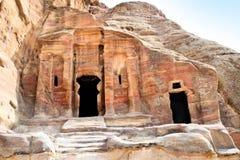 Tombs in Wadi al-Farasa valley, Petra Stock Image