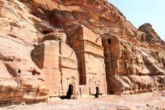 Tombs in Wadi al-Farasa valley, Petra Royalty Free Stock Photos