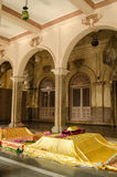 Tombs at Yousufain Mosque, Hyderabad, India. Tombs of revered religious figures in the historic Yousufain Mosque, Hyderabad, India Stock Photo