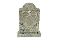 Tombstone. Photo of an Isolated Tombstone Royalty Free Stock Photography