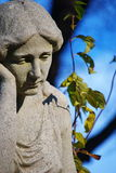 Tombstone. Sad woman-old tombstone on Central Cemetery in Vienna,Austria Royalty Free Stock Photo
