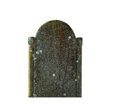 Tombstone. Empty old tombstone on a white background Royalty Free Stock Photography