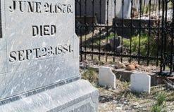 tombstone fotografia de stock