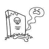 tombstone illustration stock