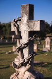 Tombstone. A cross with an anchor Royalty Free Stock Photo